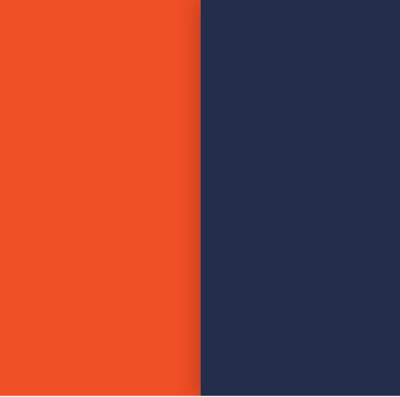 Colors: Orange and Blue