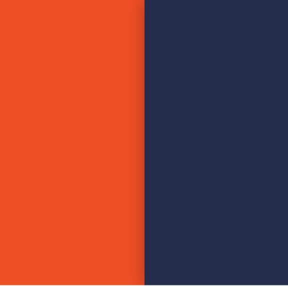 Colors: Orange and Blue